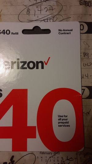 Verizon Refill Card for Sale in Troy, IL