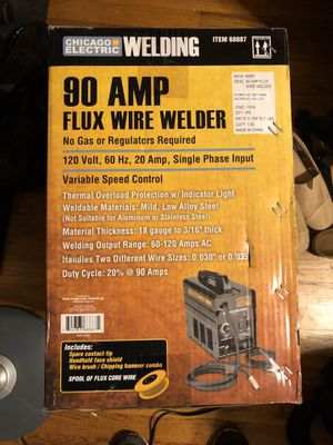 90 AMP FLUX WIRE WELDER CHICAGO ELECTRIC for Sale in Mansfield, TX