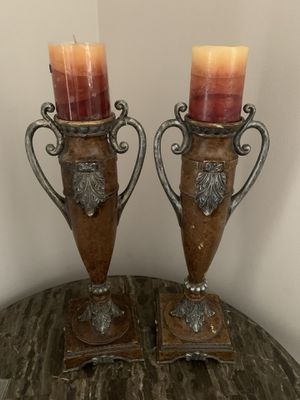 Antique and Heavy Candle Holders From 1996. $40 Each one! for Sale in Delray Beach, FL