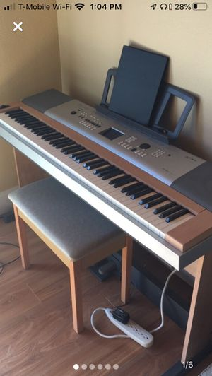 Yamaha portable grand piano with bench and pedals for Sale in San Marcos, CA