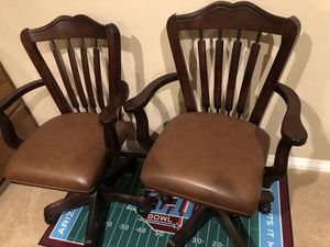 (2) Solid Wood Poker Chairs for Sale in Glendale, AZ