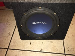 "Kenwood 10"" subwoofer for Sale in Tampa, FL"