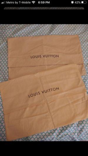Authentic Louis Vuitton dust bags for Sale in San Antonio, TX