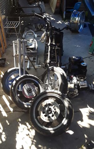 2 Mini chopper frames with accessories and 3 motors and 2 extra tires for Sale in City of Industry, CA