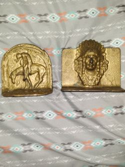 Vintage Solid Brass Bookends Tribal/indian for Sale in Fort Myers,  FL