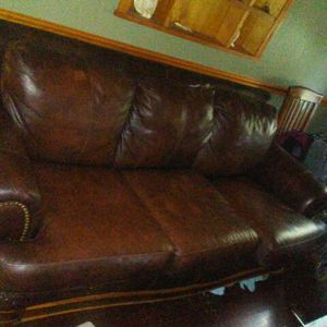 Matching leather sofa and 2 recliners for Sale in Concordia, KS
