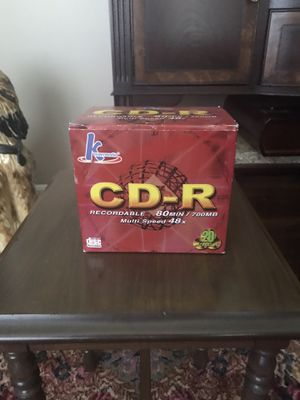 CD-R 20 pack for Sale in Charlotte, NC