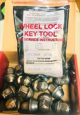 Set of 16 total McGard auto lug nuts set with 4 locking keys. These will fit though on any car. Auto parts for tires & wheels. for Sale in Cedar Park, TX