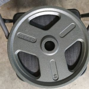 2 45LB Weider Plates for Sale in San Jose, CA