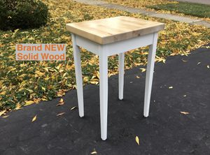 NEW Solid Wood Desk Game Gaming Work Study Home Office Kitchen WHITE Table Butcher Block for Sale in Arlington Heights, IL