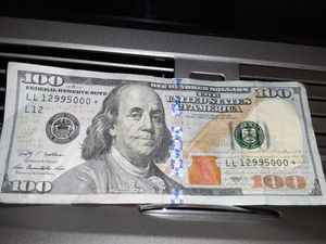 $100 bill star note low count rare three zeros for Sale in Montclair, CA