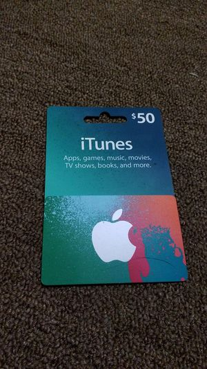 $50 iTunes card for Sale in Southborough, MA