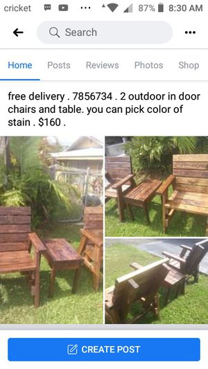 2 chairs and one end table for Sale in Hilo, HI