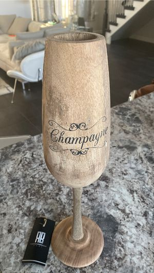 Hand crafted wooden champagne glass for Sale in St. Charles, IL