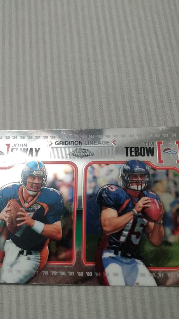 John elway and Tim tebow + Michael Bennet rookie card from 2002