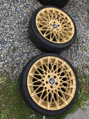 5x120 rims 20 inch staggered Lexani rims for Sale in Arlington, WA