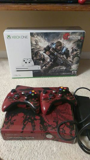 Xbox 360 includes 2 controller with AC charger for Sale in Falls Church, VA