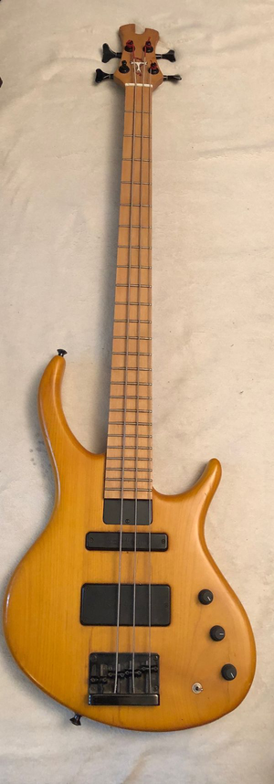 Tobias Renegade 4 string Bass Guitar Bartolini Pickups Trans Amber for Sale in Woodridge, IL