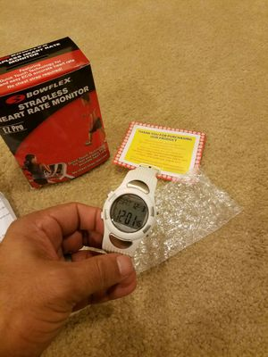 Bowflex Active Watch with strapless Heart Rate Monitor- BRAND NEW SEALED IN BOX UNOPENED UNUSED - WHITE COLOR - WITH LED BACKLIGHT for Sale in Germantown, MD