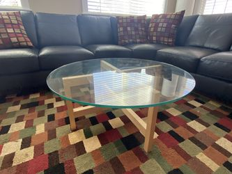 Black Scandinavian Leather Sofa for Sale in Aurora,  CO