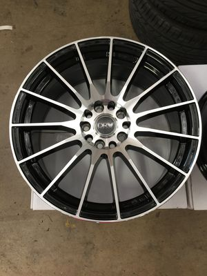 "Brand New 18"" Inch Diablo D15 18X8 Black Mach. Wheels Rims Rines 5X105 5X4.1 5X114.3 5X4.5 Honda for Sale in Austin, TX"