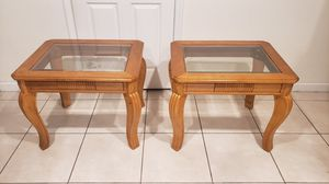 ⭐SOLID WOOD HANDCRAFTED END TABLES⭐ for Sale in Homestead, FL