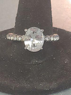 Brand new womens 925 sterling silver filled genuine white sapphire engagement ring or promise ring for Sale in NW PRT RCHY, FL