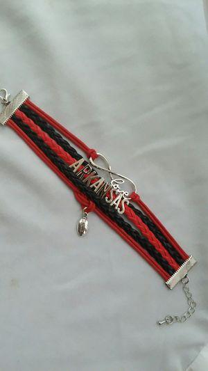 Infinite love Arkansas football charm leather bracelet for Sale in Sheridan, AR