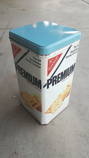 Vintage nabisco premium saltine cracker tin for Sale for sale  Mesa, AZ