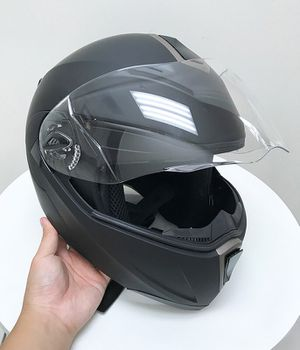 (Brand New) $45 Full Face Motorcycle Bike Helmet Flip up Dual Visor (M, L, XL) DOT Approved for Sale in South El Monte, CA