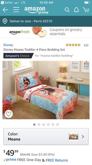Moana toddler bedding for Sale in Carson, CA