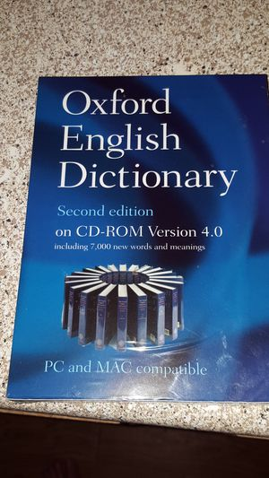 Oxford English Dictionary Cd FULL Version for Sale in Apex, NC