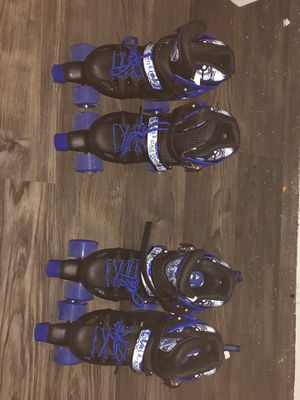 Scale Sports twins roller skates size 4-6 boys for Sale in Austin, TX