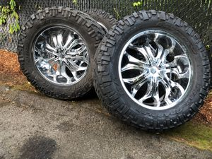 37x13.50R22 .Rims & Tires 6 Lug .Bolt pattern Universal. Trail Grappler A/T Tires for Sale in Portland, OR