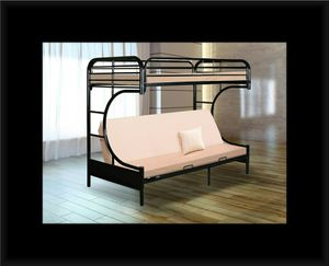 Twin futon bunk bed frame for Sale in Bowie, MD