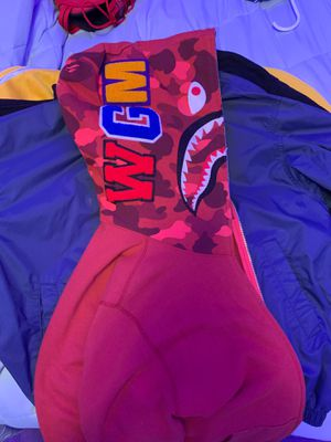 medium bape hoodie. limited edition one sleeve red camo for Sale in San Bruno, CA
