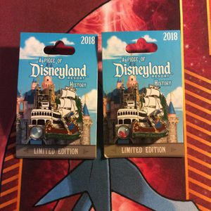 A Piece of Disneyland History Disney Pin River of America Mark Twain Boat Pirate Ship Donald Duck 2018 LE Limited Edition 2000 WDW Walt Disney World for Sale in Orange, CA