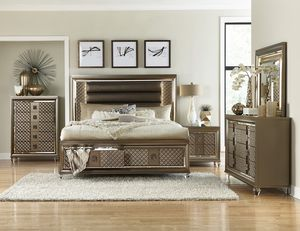 NEW STYLES FOR 2020. Platform Bed with LED Lighting and Storage Footboard. for Sale in Raleigh, NC