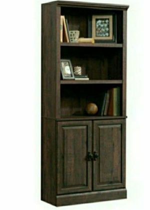 """💯Better Homes & Gardens 71"""" Crossmill 3 Shelf Bookcase with Doors, Heritage Walnut Finish for Sale in Sugar Land, TX"""
