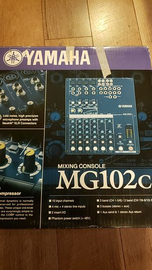 Yamaha MG102c 10 channel mixer for Sale in Monroe, WA