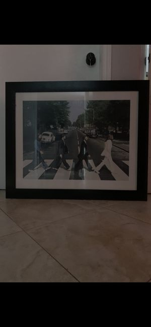 Beatles picture of album Abbey Road 1969 $50.00 for Sale in Hialeah, FL