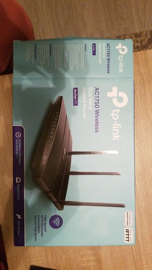 TP-Link AC1750 wireless dual band gigabit router Archer A7 for Sale in Houston, TX