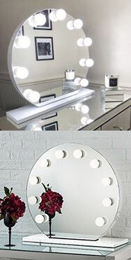 "(NEW) $150 Round 28"" Vanity Mirror w/ 10 Dimmable LED Light Bulbs, Hollywood Beauty Makeup USB Outlet for Sale in El Monte, CA"