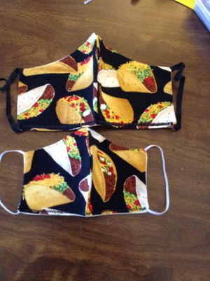 Taco Lover face mask size medium large and extra-large available $10 each for Sale in Baldwin Park, CA