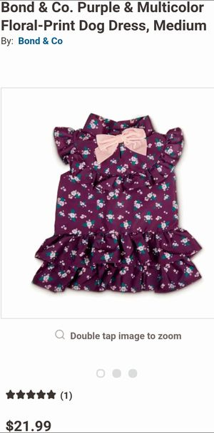 Bond & Co. Purple & Multicolor Floral-Print Dog Dress, Medium for Sale in La Habra Heights, CA