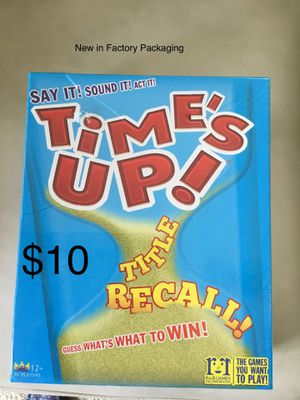 TIME'S UP (factory sealed game) for Sale in Chesapeake, VA