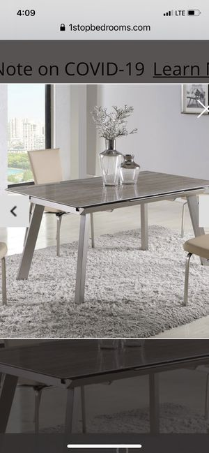 Marble Dining Table with 6 chairs for Sale in Marlboro Township, NJ