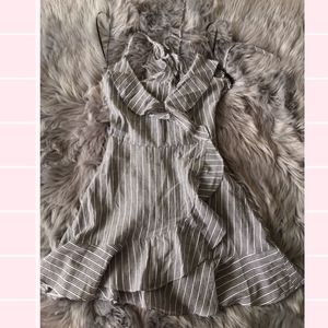 Grey&White Striped Wrap Dress for Sale in Los Angeles, CA