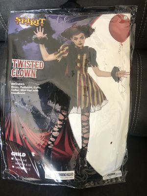 Girls Halloween costume twisted clown for Sale in Spring Hill, FL
