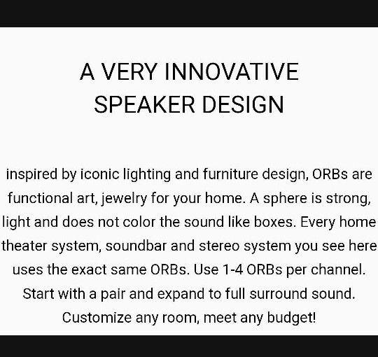 Lot of ORB Audio Speakers 6 no deliever
